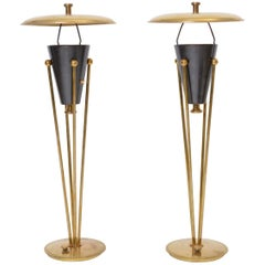 Rare Pair of Stiffel Lamps, circa 1950