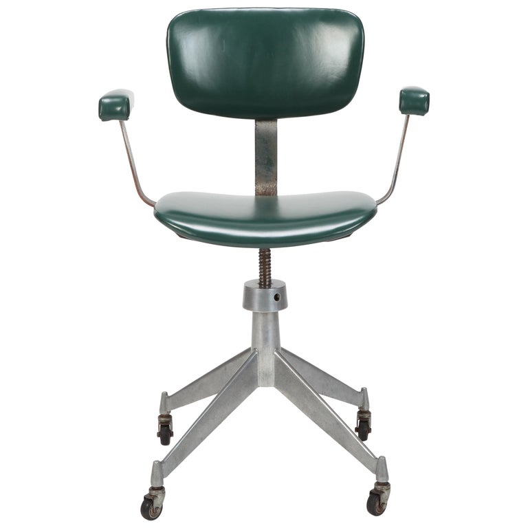 Italian Office Chair Gio Ponti Style 1950s For