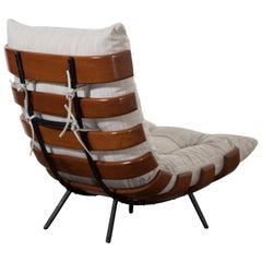 "Martin Eisler and Carlo Hauner ""Costela"" Lounge Chair, Brazil, 1950s"
