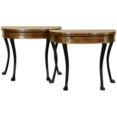 Exceptional Pair of Regency Card Tables