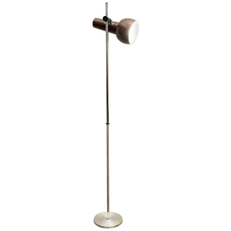 Norwegian Metal and Aluminum Floor Lamp