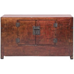 Early 20th Century Chinese Two-Door Painted Cabinet