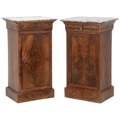 Antique French Mahogany, Louis Philippe Style Nightstands or End Tables