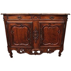 Antique French 18th Century Walnut Commode
