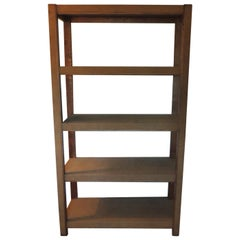 Tall Parson Style Custom Designed Suede Bookcase