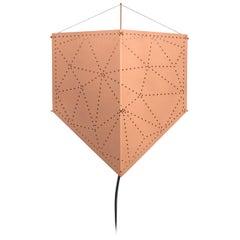 """Aluminium Kite Copper Paint, """"Pipa"""" Wall Lamp LED"""