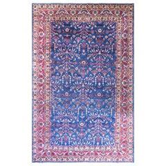 Antique Persian Laver Kerman Carpet, Amazing Color