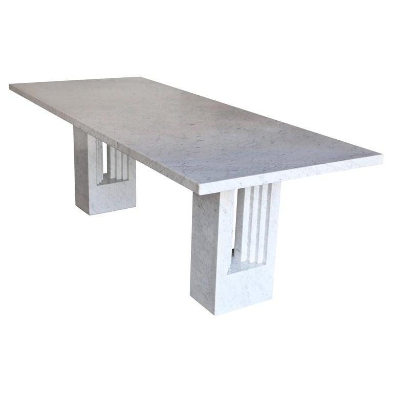 Carlo Scarpa & Marcel Breuer 'Delfi' Marble Table