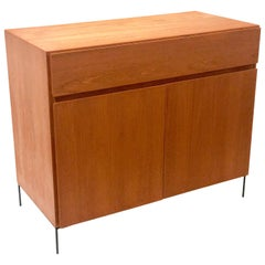 Danish Modern Multi-Drawer Petite Teak Cabinet by Dyrlund