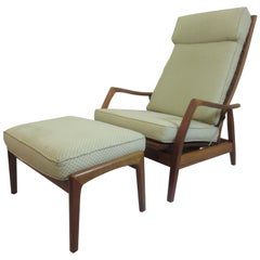 DUX Teak Lounge Chair and Ottoman