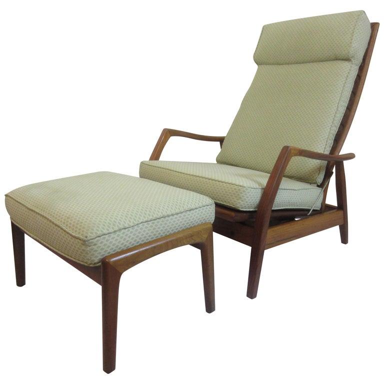 DUX Teak Lounge Chair and Ottoman