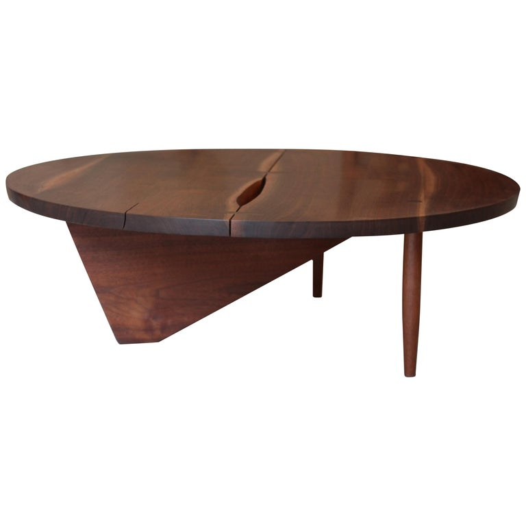 George Nakashima, Round Coffee Table, circa 1960 For Sale