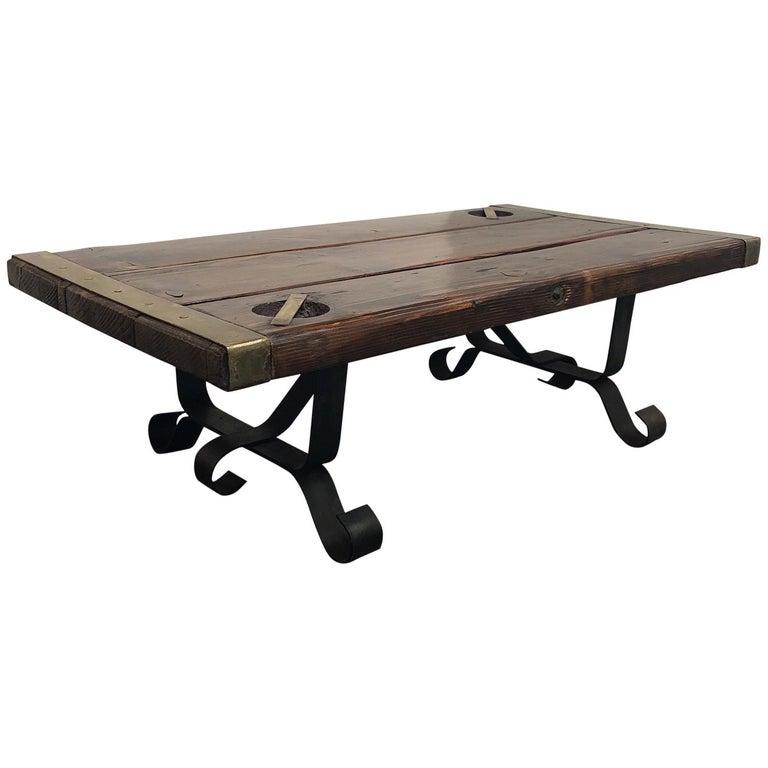 World War II Custom Liberty Ship Hatch Cover Coffee Table For Sale - Ship hatch coffee table