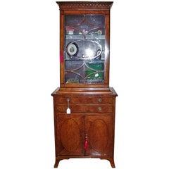 18th Century Sheraton Satinwood Display Cabinet