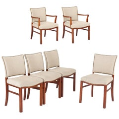 Set of Danish Kaare Klint Style 1940s Dining Chairs