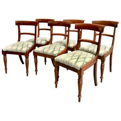 Set of Six William IV Rosewood Side Chairs