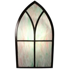 1 of 4 Turn of The Century Peaked Stained Glass Window