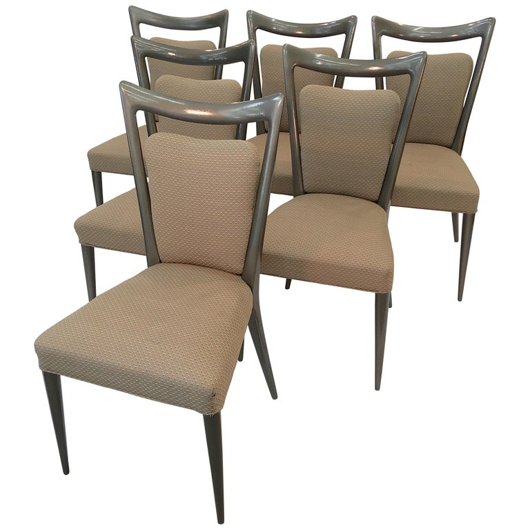 Set of Six Dining Chairs by Melchiorre Bega & Mario Gottardi