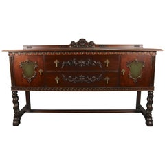 Antique Spanish Revival 1920s Spanish Revival Sideboard Buffet