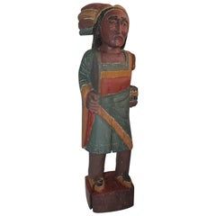 Cigar Store Indian Hand-Carved and Painted