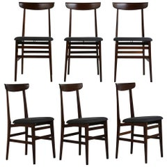 Set of Six Danish Rosewood Dining Room Chairs