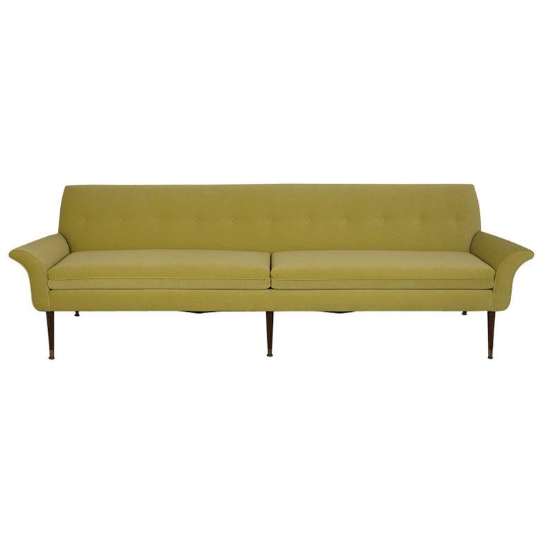 Modern Three-Seat Sofa New Upholstered, circa 1960s