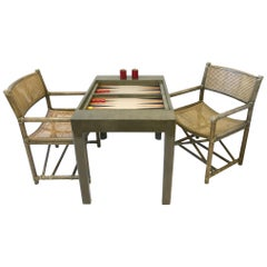 Bob Hopes Backgammon Game Table Set by Steve Chase