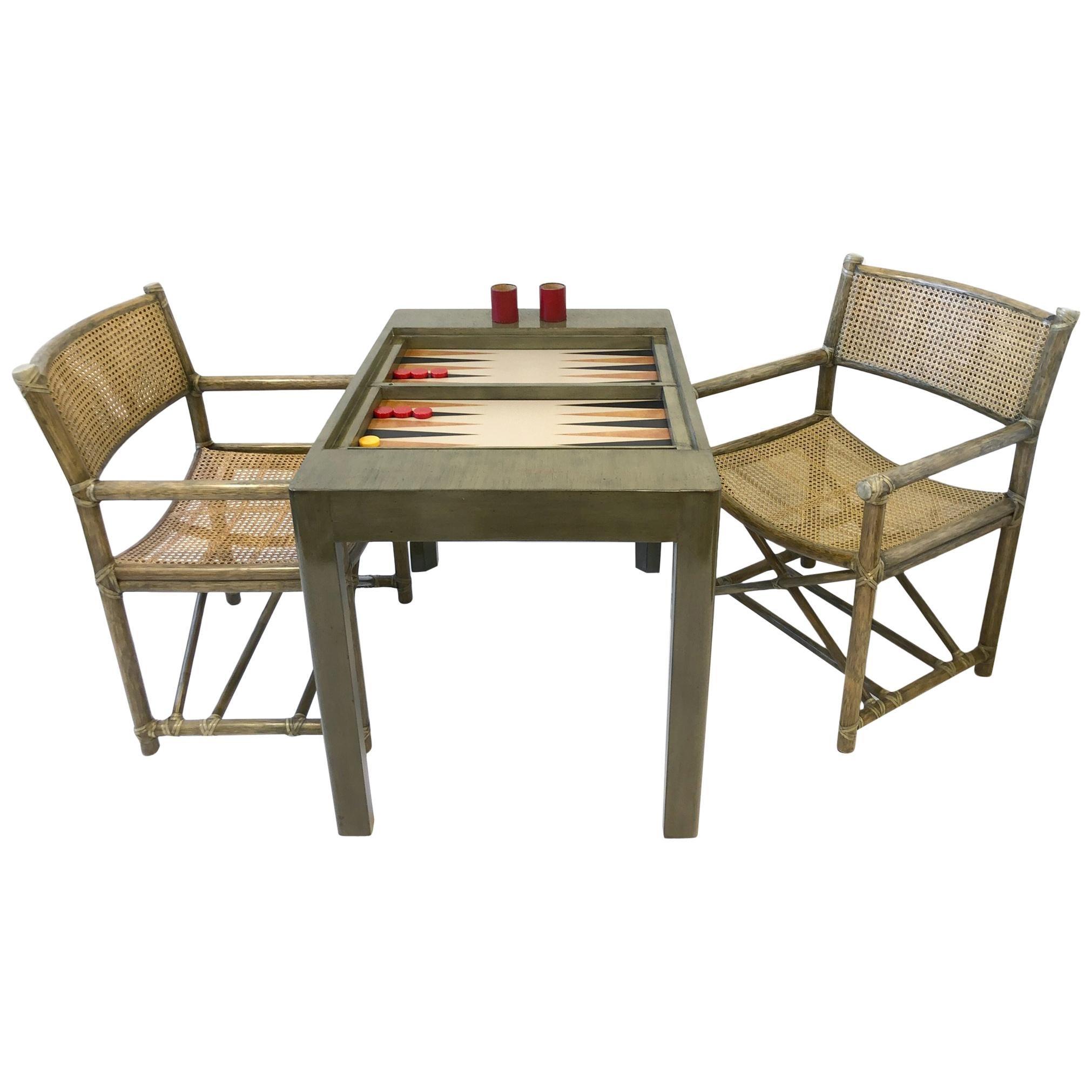 Bob Hopes Backgammon Game Table Set By Steve Chase