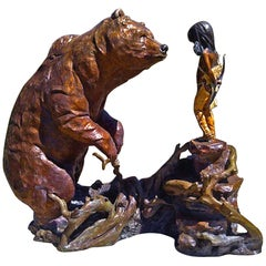 """Repentance"" Bronze Sculpture by Walt Horton"