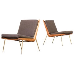 1960s P. Hvidt and O. Mølgaard-Nielsen 'Boomerang' Chair FD 135 for France & Son