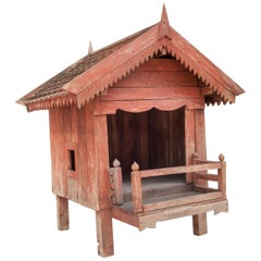 Large Rustic Spirit House from Northern Thailand, Teak, Mid-Late 20th Century