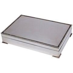 Art Nouveau Sterling Silver Coffer / Cigar Box
