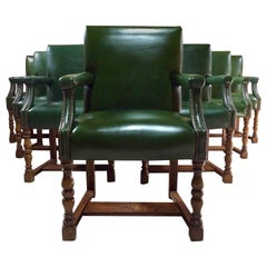 Howard & Sons Armchairs Set of Ten Boardroom Dining Library Gainsborough