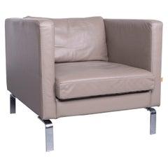 Furninova Designer Leather Armchair in Grey