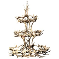 Imposing Chandelier Made of Antlers