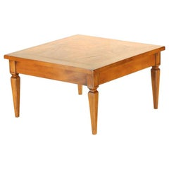 Antique Walnut Parquetry Coffee Table, Italy