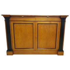 Massive Cherrywood Commode with Column Details