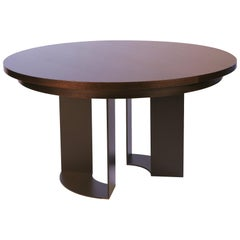 DT-86 Round Dining Table with Recessed Table Apron by Antoine Proulx