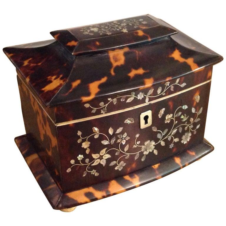 Inlaid Regency Tea Caddy