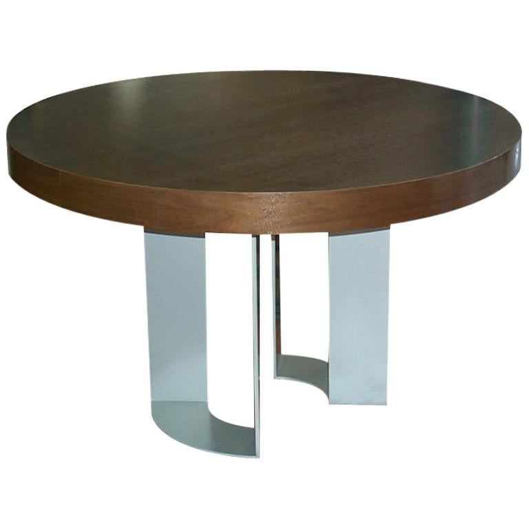 DT-86 Round Dining Table with Apron by Antoine Proulx
