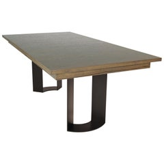 DT-86 Rectangular Dining Table with Recessed Table Apron