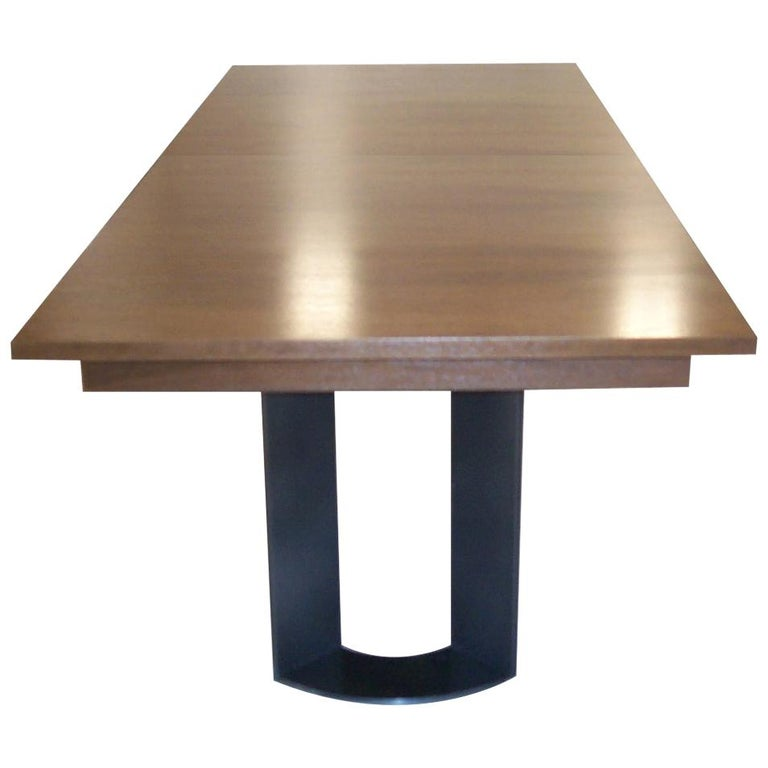 DT-86 Rectangular Dining Table with Recessed Table Apron For Sale