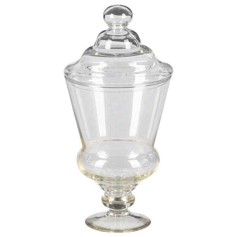 Vintage Glass Lidded Candy Jar, France, Midcentury
