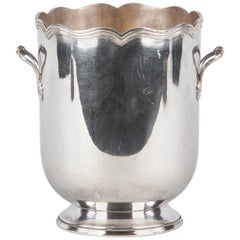 Silver Metal Ice Bucket, France, Midcentury