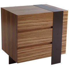 ET-22 End or Bedside Table with Three Drawers by Antoine Proulx