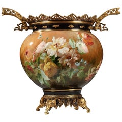 Important Earthenware Planter Attributed to F. Barbedienne