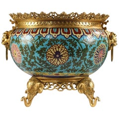 Rare Japanese Style Planter Attributed to L'Escalier de Cristal