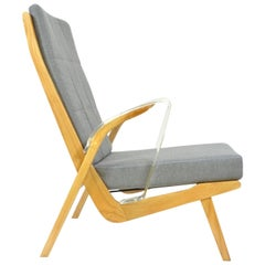 Unique Retro Armchairs from 1970s with Armrests Made of Plexiglass