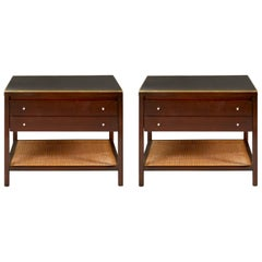 Paul McCobb Leather Top End Tables