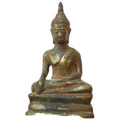 Painted Bronze Figure of Buddha, Siam Thailand, Chakri Dynasty, circa 1790 AD